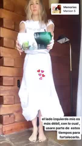 Guille Valdés entrena durante la cuarentena con alimentos
