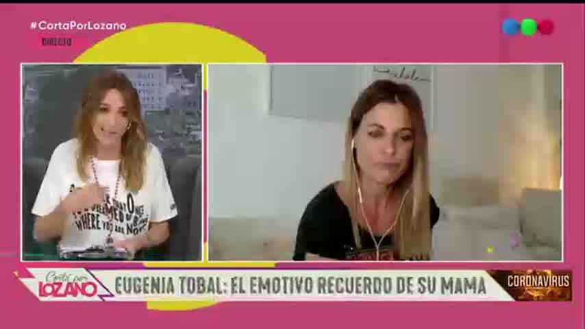 Eugenia Tobal rompió en llanto al recordar a su mamá