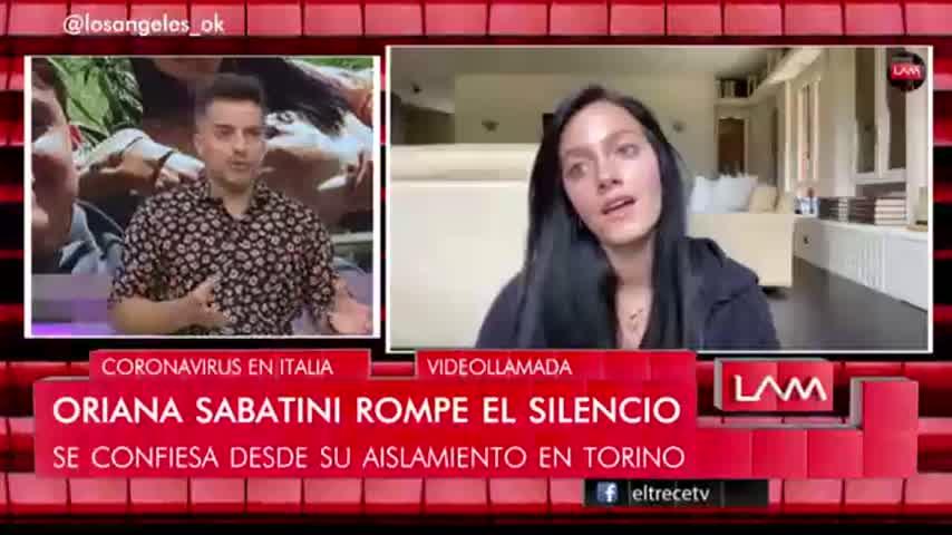 Oriana Sabatini habló sobre su recuperación