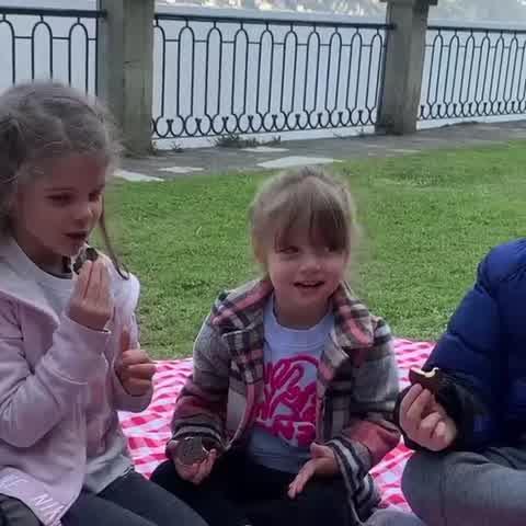 Wanda Nara de picnic con su familia
