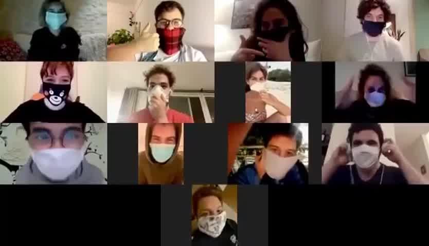 El elenco de Atav se reencontró virtualmente para concientizar sobre la importancia del uso del barbijo