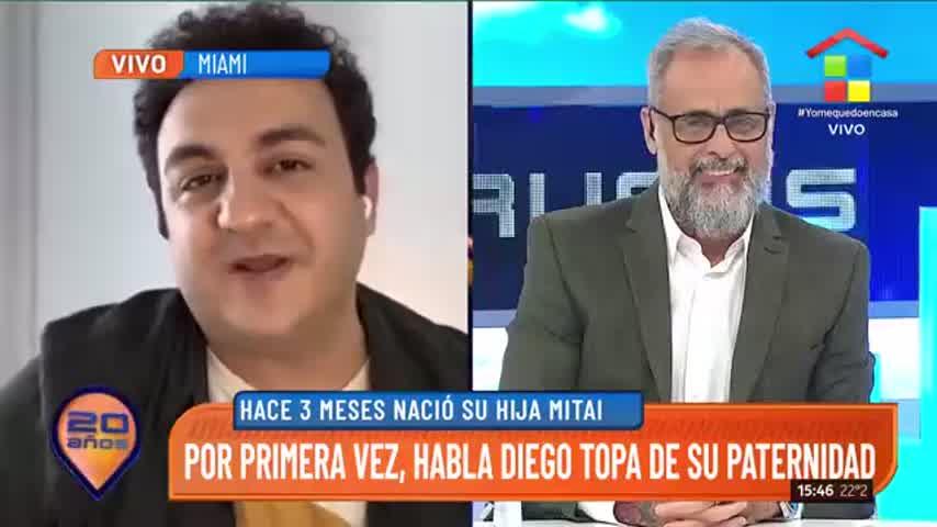 Emocionado hasta las lágrimas, Diego Topa habló de su hija, Mitai, desde Miami
