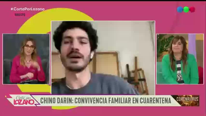 El Chino Darín habló de la cuarentena con Úrsula Corberó y sus padres