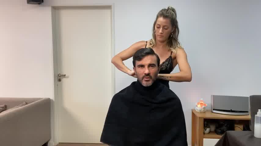 ¡Mirá como lo dejó! Mica Viciconte le cortó el pelo a Cubero