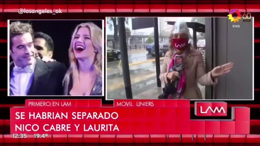 ¿Separados? Nicolás Cabré sacó a Laurita Fernández de su WhatsApp