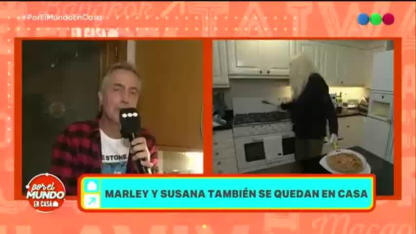 Susana Giménez cocinó en vivo una tortilla de papa