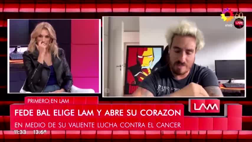 Fede Bal reveló qué le dijo Luisana Lopilato cuando se enteró de su enfermedad