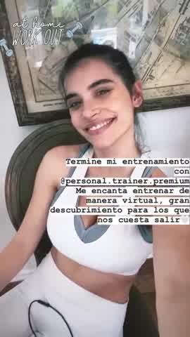 La cuarentena fitness de Eva de Dominici