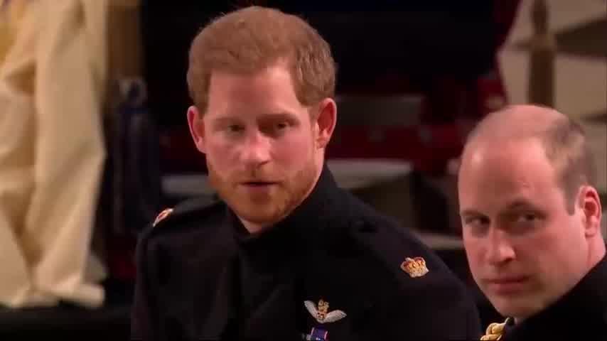 El emotivo momento en que Harry ve a Meghan entrar a la iglesia