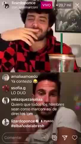 Lizardo Ponce y Juan Marconi se tiraron onda en Ig Live