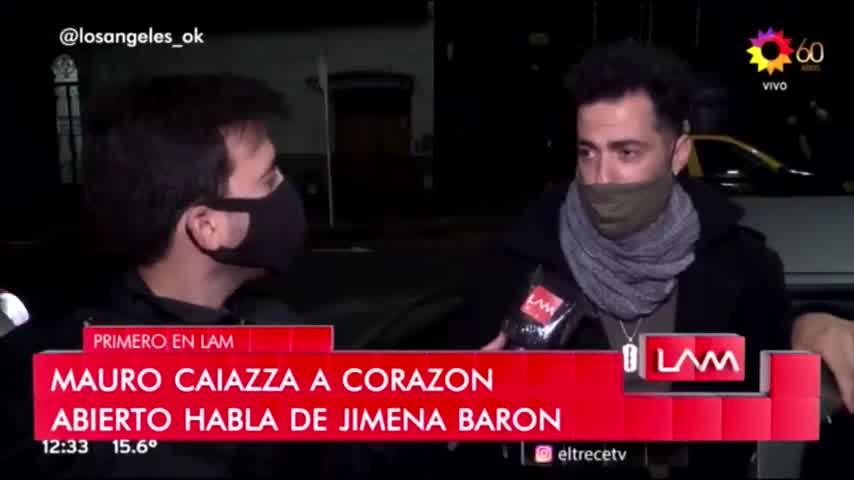 La reacción de Mauro Caiazza cuando le preguntaron por Jimena