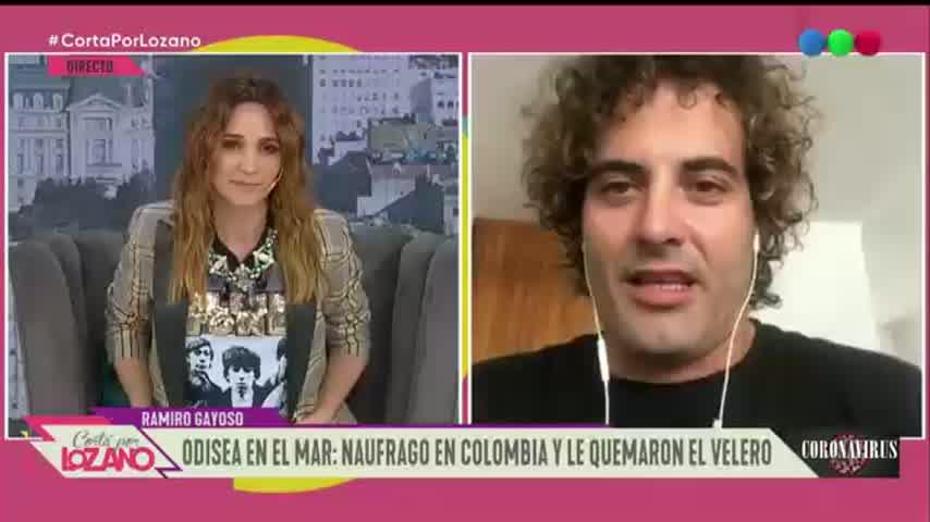 Ramiro Gayoso, ex de Natalie Pérez, que naufragó en Colombia