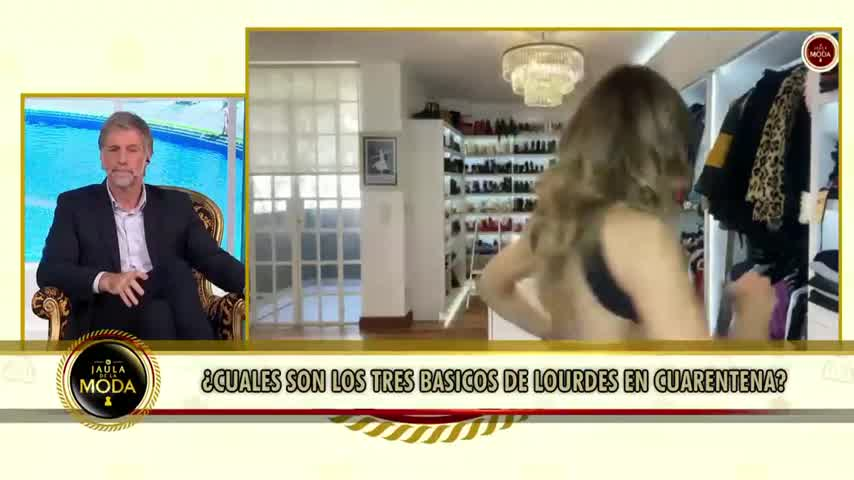 Lourdes Sánchez mostró su costoso vestidor con 200 pares de zapatos