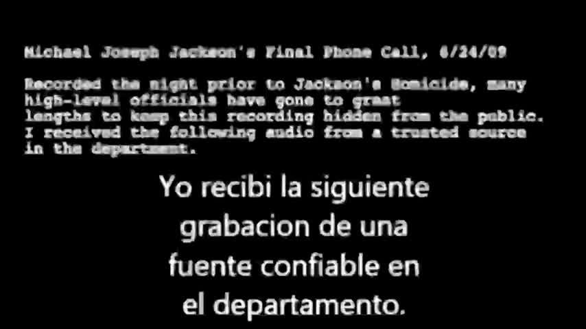 Nuevo!!! Anonymous revela última llamada de Michael Jackson Antes de morir!!!