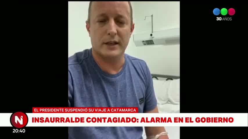 Los mensajes de Martín Insaurralde y Jésica Cirio por el contagio del intendente - Telefe Noticias