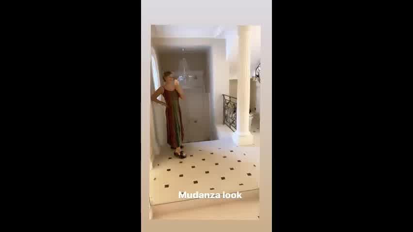 Wanda Nara se mudó y mostró parte de su nueva mansión en París