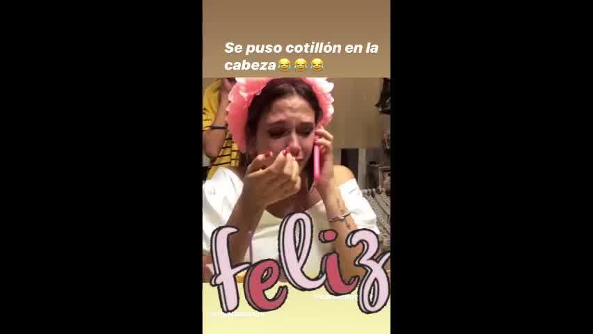 Barbie Vélez estalló en llanto el día de su cumpleaños