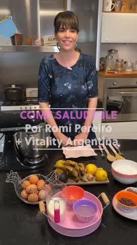 Romina Pereiro te enseña a preparar budín saludable de chocolate y banana