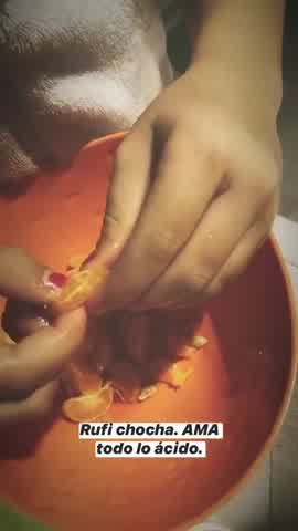 La China Suarez mostro la comida preferida de Rufina