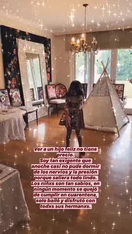 Así fue el festejo de cumpelaños de Rufina Cabré