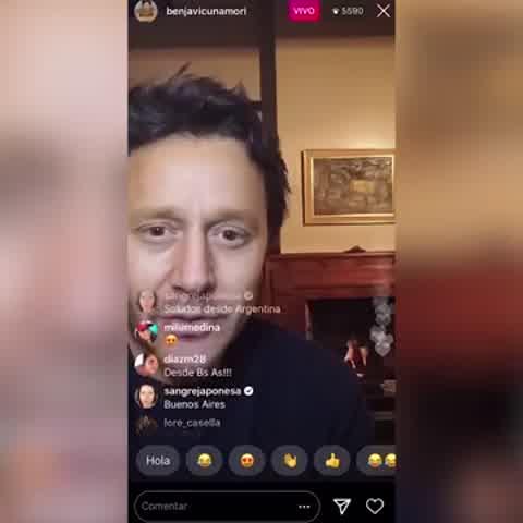 """Benjamín Vicuña se enojó con la China Suárez durante un vivo de Instagram: """"Así no se puede"""""""