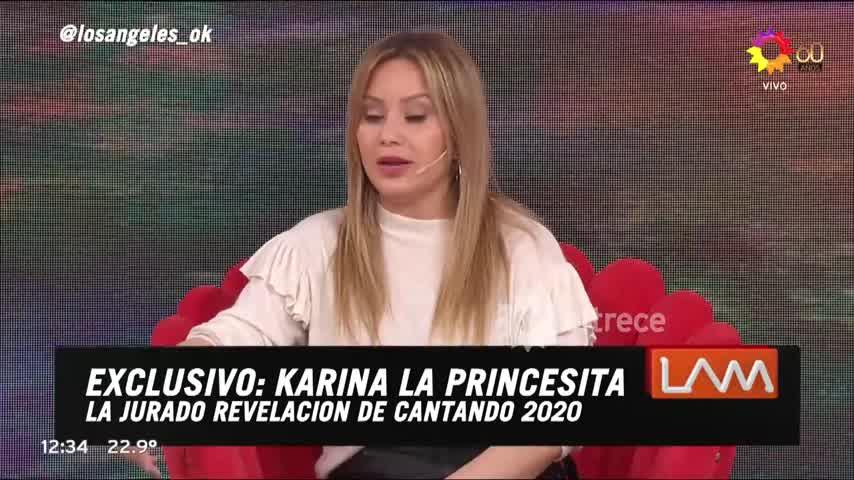 Karina La Princesita se refirió al rumor de que tuvo una relación con Diego Maradona