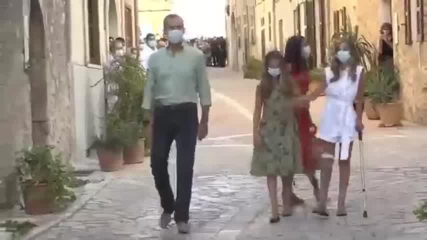 Familia real de España en Petra