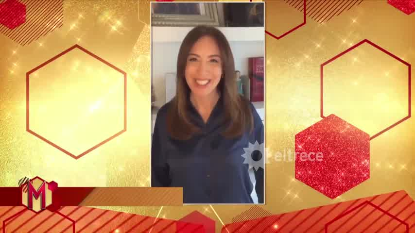 María Eugenia Vidal le dedicó un mensaje a Quique Sacco en Mujeres de eltrece