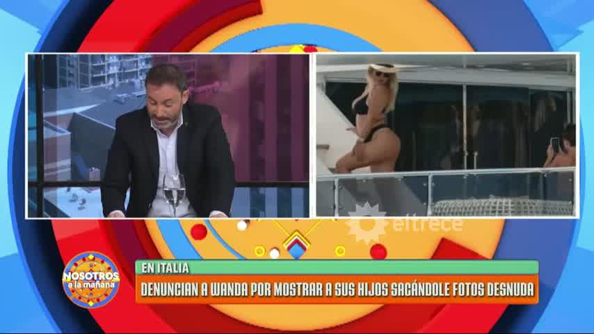 Italia: denunciaron a Wanda Nara por mostrar a sus hijos sacándole fotos desnuda