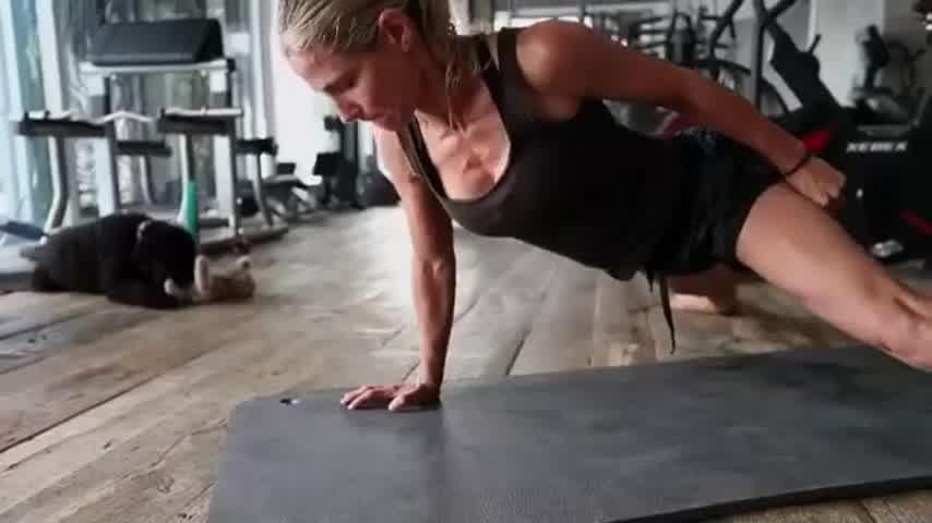 El entrenamiento extremo de Elsa Pataky, la esposa de Chris Hemsworth