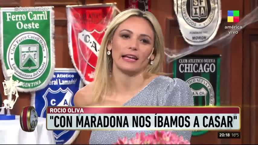 """Rocío Oliva, preocupada por Maradona: \""""No vi al Diego que yo conozco\"""""""