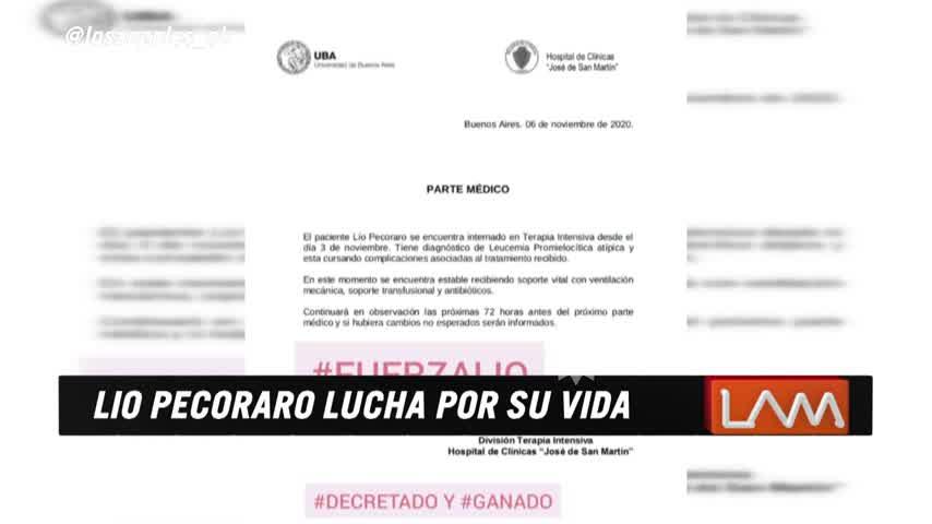 Se conoció el pedido de los médicos de Lío Pecoraro a su familia tras la complicación de su cuadro