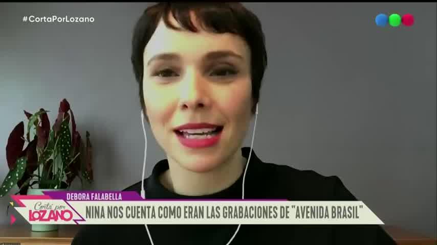 Débora Falabella contó que su primera experiencia en televisión fue en Argentina