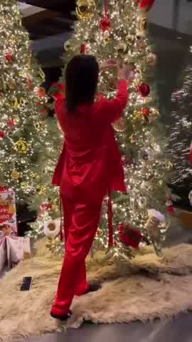 Así quedó el árbol navideño de Antonela Roccuzzo y Leo Messi
