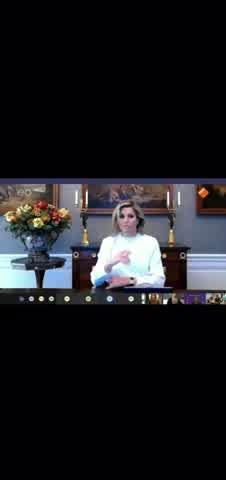 En una charla de Zoom: una grosería desconcertó a la reina Máxima