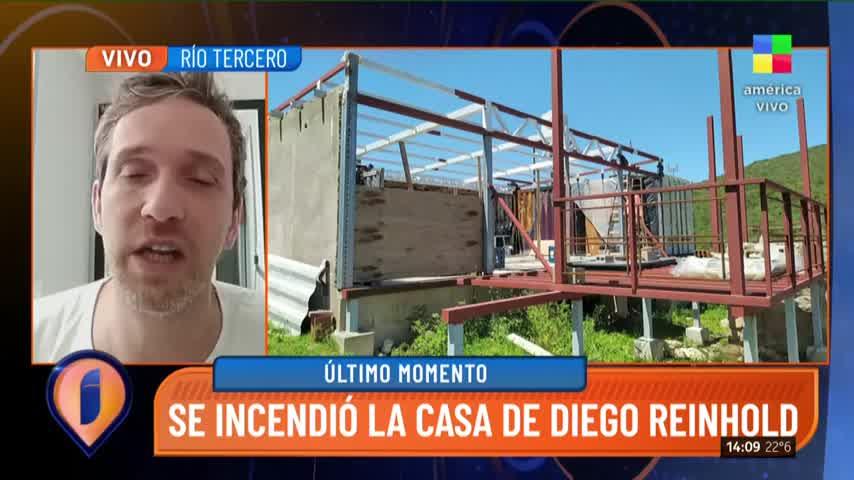 Un rayo incendió la casa de Diego Reinhold