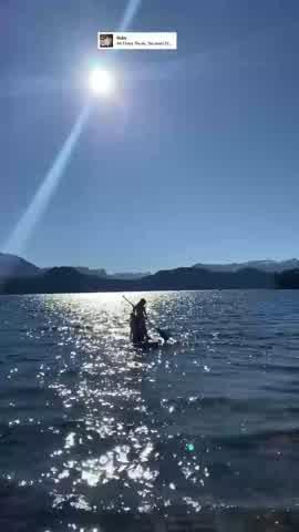 Juliana Awada practicó un deporte acuático junto a su hija Antonia Macri
