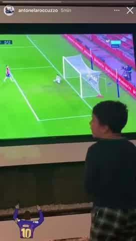 """Mateo Messi: su \""""loca\"""" manera de festejar los goles de su padre"""