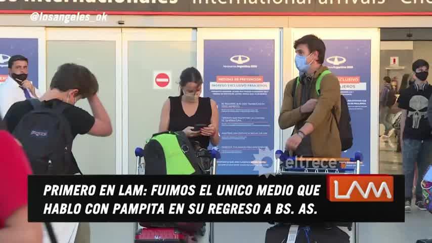 Pampita habló a solas con LAM recién llegada al país, y contó todos los detalles de su embarazo