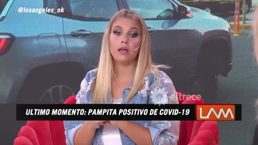 Pampita con Covid-19
