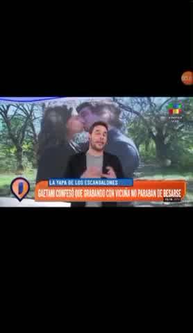 El apasionado beso de Romina Gaetani y Vicuña