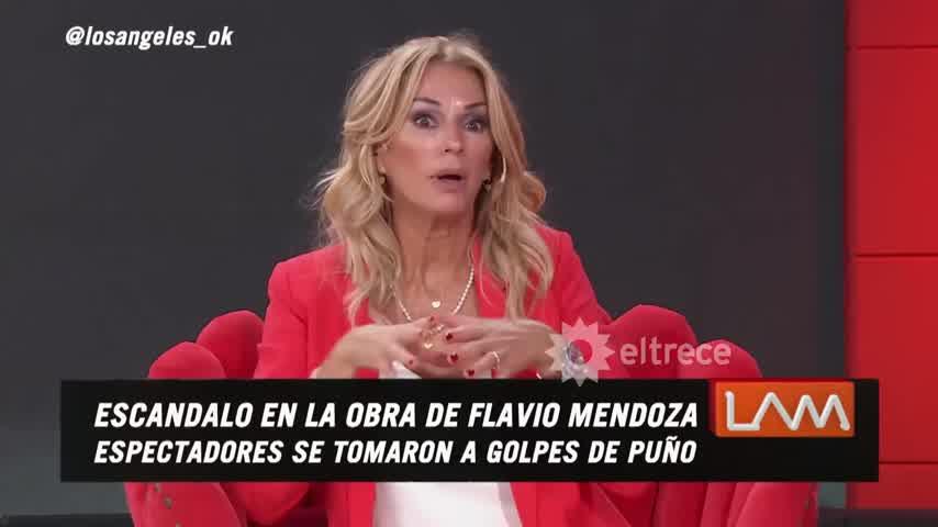 El video de cómo se agarraron a las piñas en la obra de Flavio Mendoza: Tuvieron que suspenderla