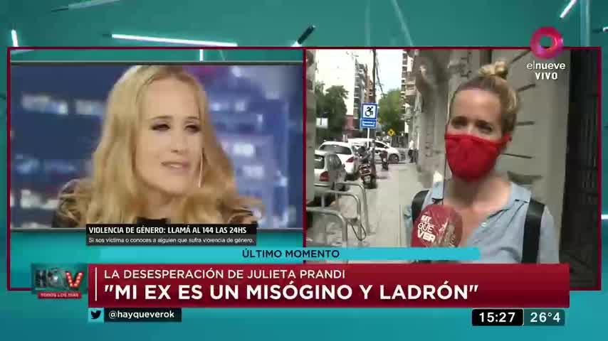 "La desgarradora confesión de Julieta Prandi: \""Mi ex me amenazaba de muerte\"""