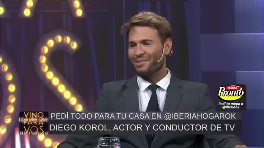 Diego Korol presentó a su familia por primera vez en televisión