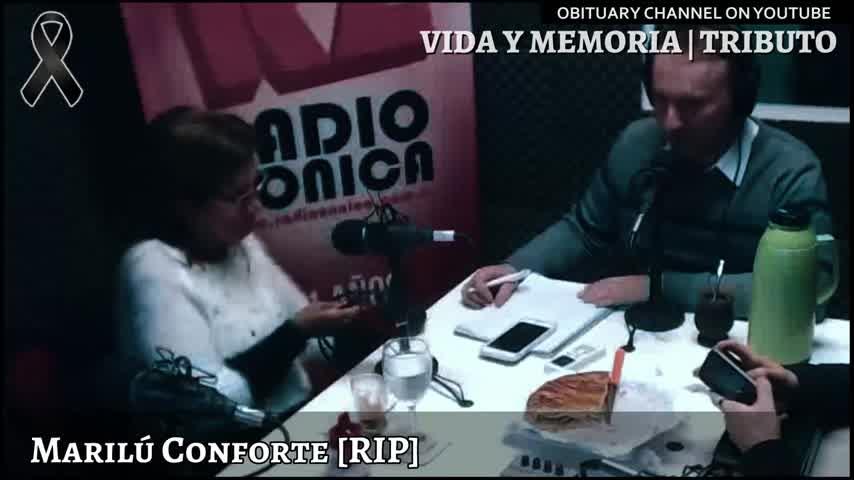 Marilú Conforte ❖ Murió la histórica locutora y periodista de Radio Rivadavia † Vida y Memoria