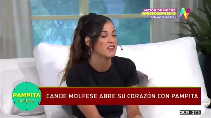 La filosa pregunta de Pampita a Cande Molfese sobre el rumor de romance con Cachete Sierra