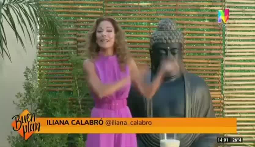Debutó Buen Plan: Así fue el look monocromático de Ileana Calabró