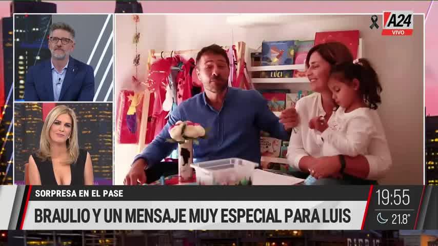 Viviana Canosa le dedicó un emotivo video a Luis Novaresio por su cumpleaños