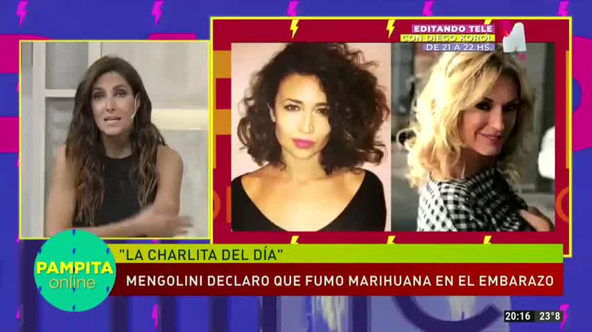 Pampita se metió en la polémica que desató Julia Mengolini y la marihuana