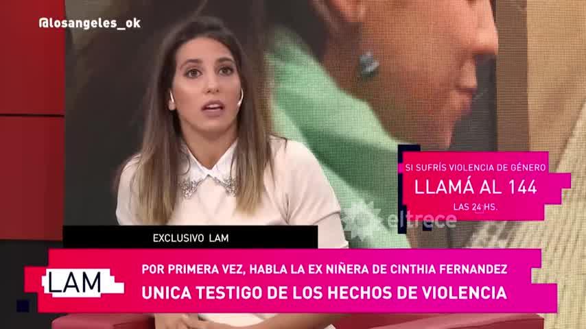 La niñera de Cinthia Fernández rompió en llanto y habló de los episodios de violencia de Defederico